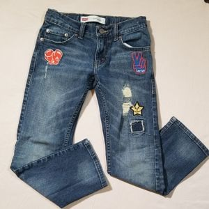 Levi's 511 Slim Patchwork Jeans Size 8 Reg